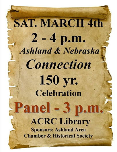 Ashland & Nebraska Connection 150 year celebration