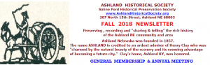 Ashland Historical Society Fall 2018 Newsletter